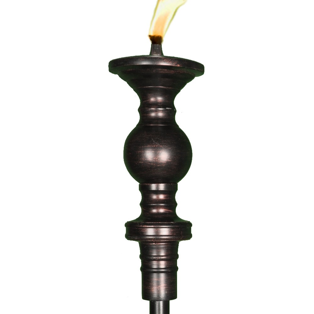 Burnished candlestick tiki torch tiki torches outdoor for Outdoor tiki torches