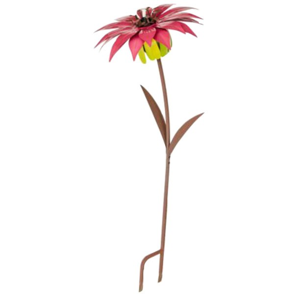 Pink Lily Flower Tiki Torch