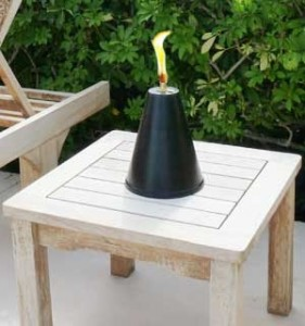 The Original Hawaiian Cone Tabletop Tiki Torch