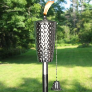 Dimpled Stainless Tiki Torch